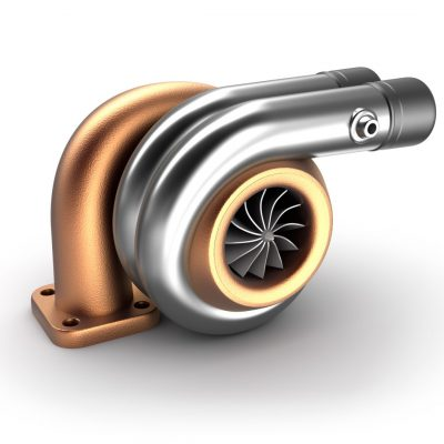 Anodised and polished turbocharger