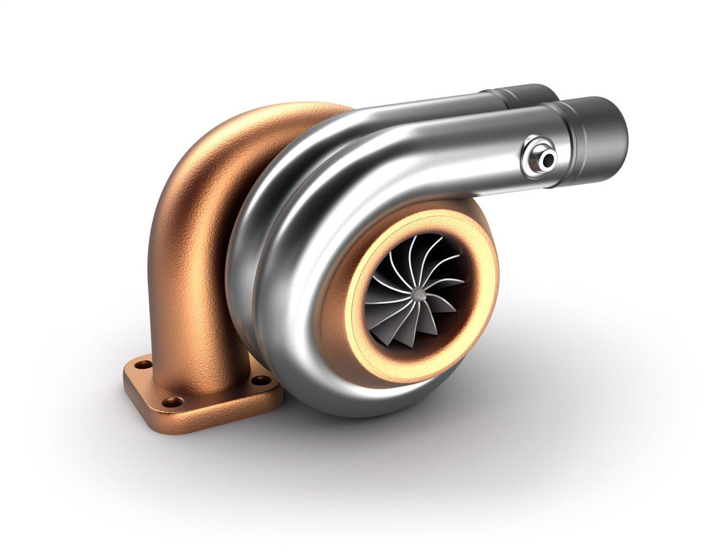 Anodised and polished turbocharger