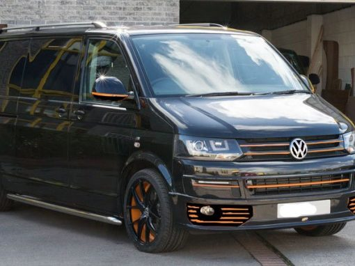 Custom T5 Tourer – Black & Orange